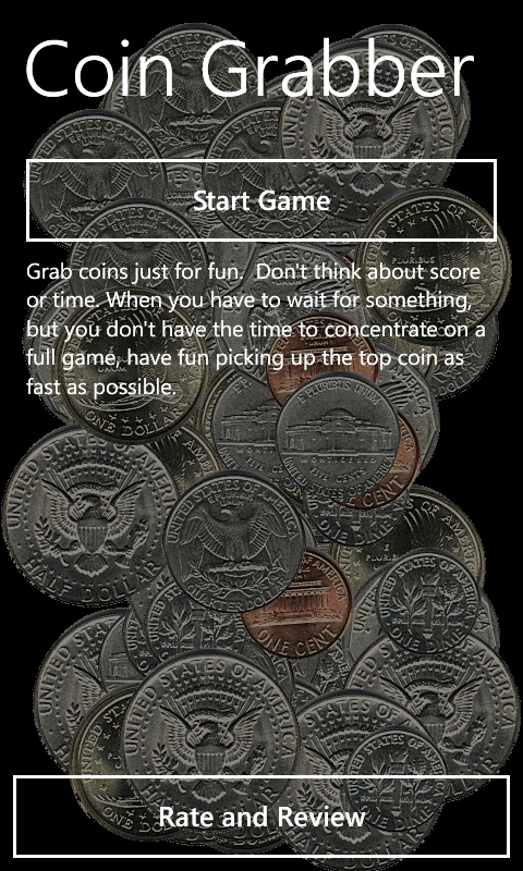 Coin Grabber Windows Phone 7 game